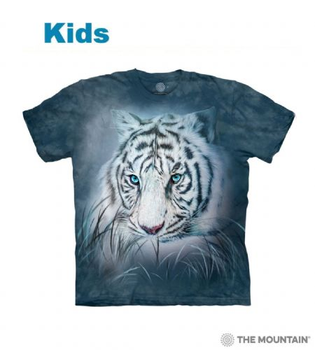 Thoughtful White Tiger - Kids Big Cat T-shirt - The Mountain®